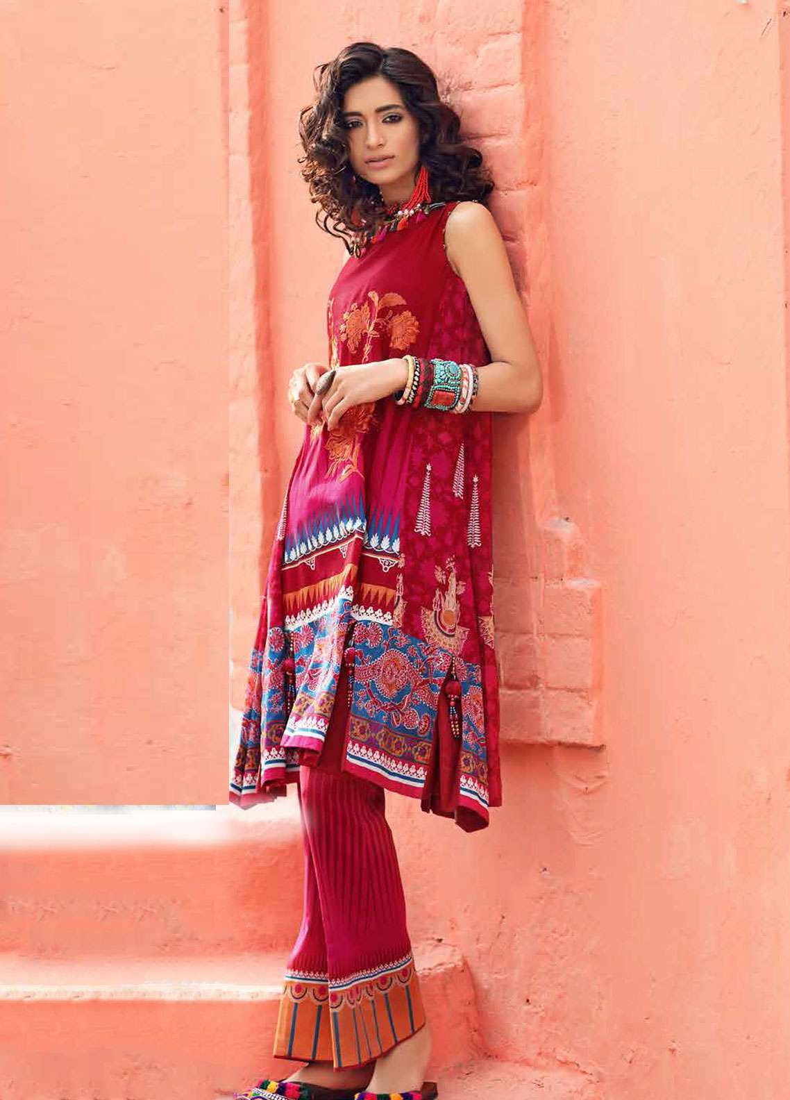 Gul Ahmed Gypsy Printed Cotton Unstitched 2 Piece Suit GAG19L GT-15 B - Spring / Summer Collection