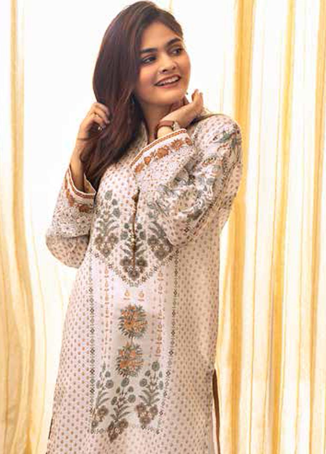 Gul Ahmed Printed Lawn Unstitched 3 Piece Suit (Two Shirts & One Bottom) GA19M CL-643 - Spring / Summer Collection