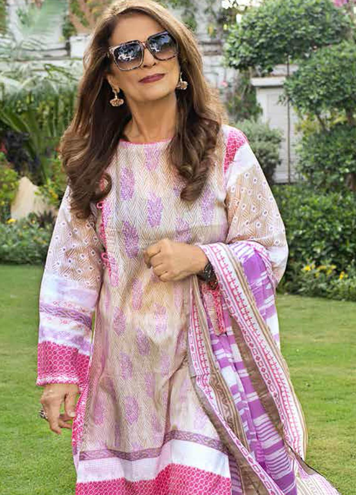 Gul Ahmed Printed Lawn Unstitched 3 Piece Suit (Two Shirt & One Dupatta) GA19M CL-644B - Spring / Summer Collection