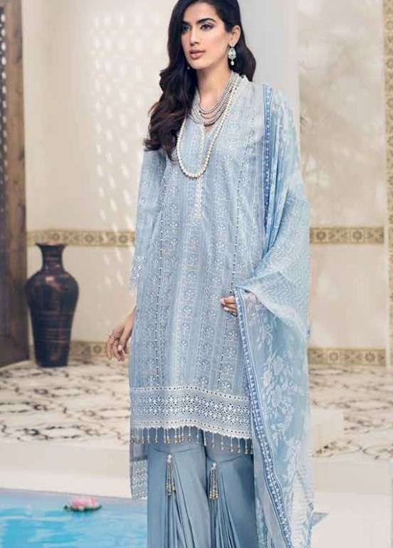 Gul Ahmed Embroidered Swiss Voile Unstitched 3 Piece Suit GAP19L LSV-02 - Spring / Summer Collection