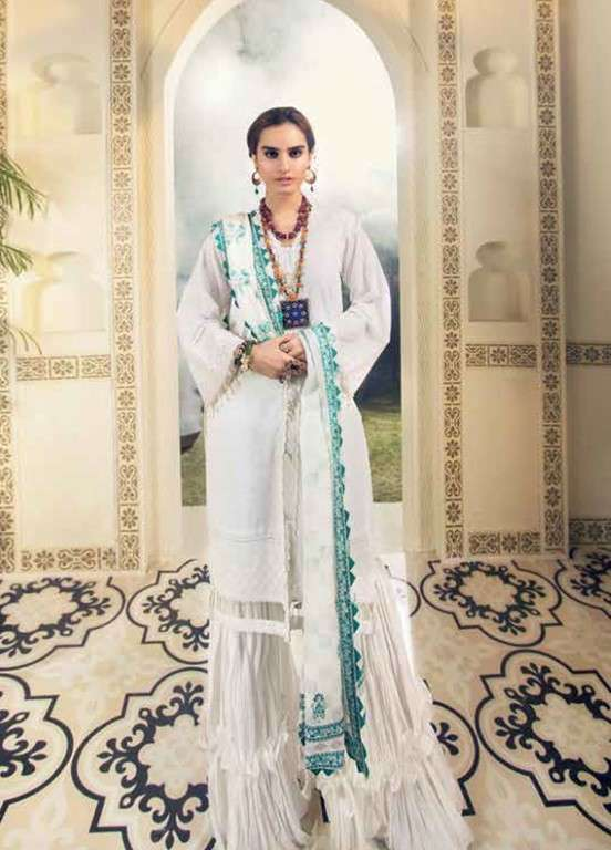 Gul Ahmed Embroidered Swiss Voile Unstitched 3 Piece Suit GAP19L LSV-04 - Spring / Summer Collection