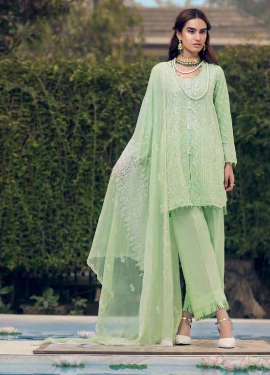 Gul Ahmed Embroidered Swiss Voile Unstitched 3 Piece Suit GAP19L LSV-10 - Spring / Summer Collection