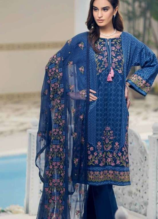 Gul Ahmed Embroidered Swiss Voile Unstitched 3 Piece Suit GAP19L LSV-15 - Spring / Summer Collection