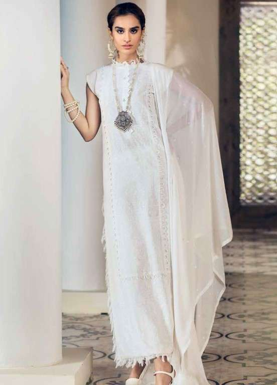 Gul Ahmed Embroidered Swiss Voile Unstitched 3 Piece Suit GAP19L LSV-18 - Spring / Summer Collection
