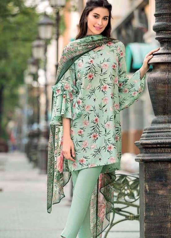 Gul Ahmed Printed Silk Unstitched 3 Piece Suit GAP19L SY-23 - Spring / Summer Collection