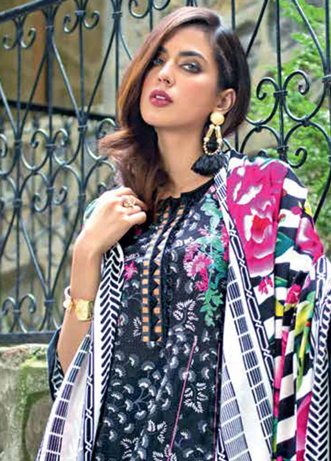 Gul Ahmed Embroidered Pashmina Unstitched 3 Piece Suit GA18W AP08 - Winter Collection