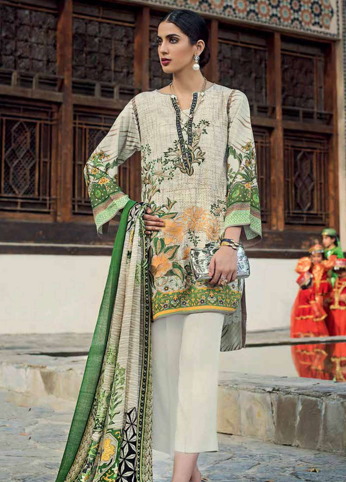 Gul Ahmed Embroidered Pashmina Unstitched 3 Piece Suit GA18W P91 - Winter Collection