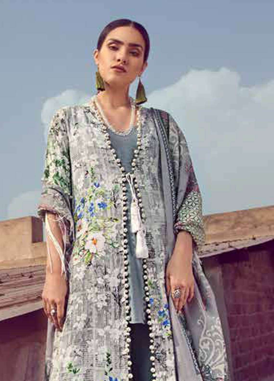 Gul Ahmed Printed Pashmina Unstitched 3 Piece Suit GA18W PSM01 - Winter Collection