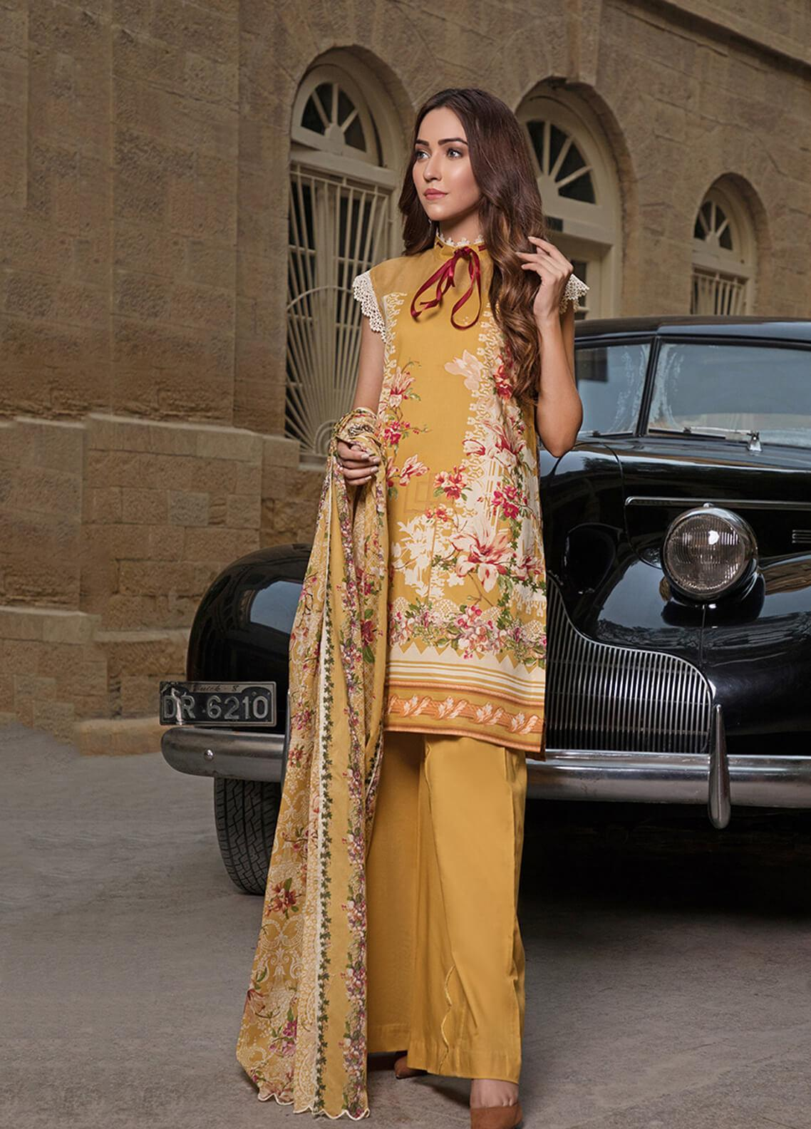 Gul Mohar Printed Lawn Unstitched 3 Piece Suit GM19L 10B - Festive Collection