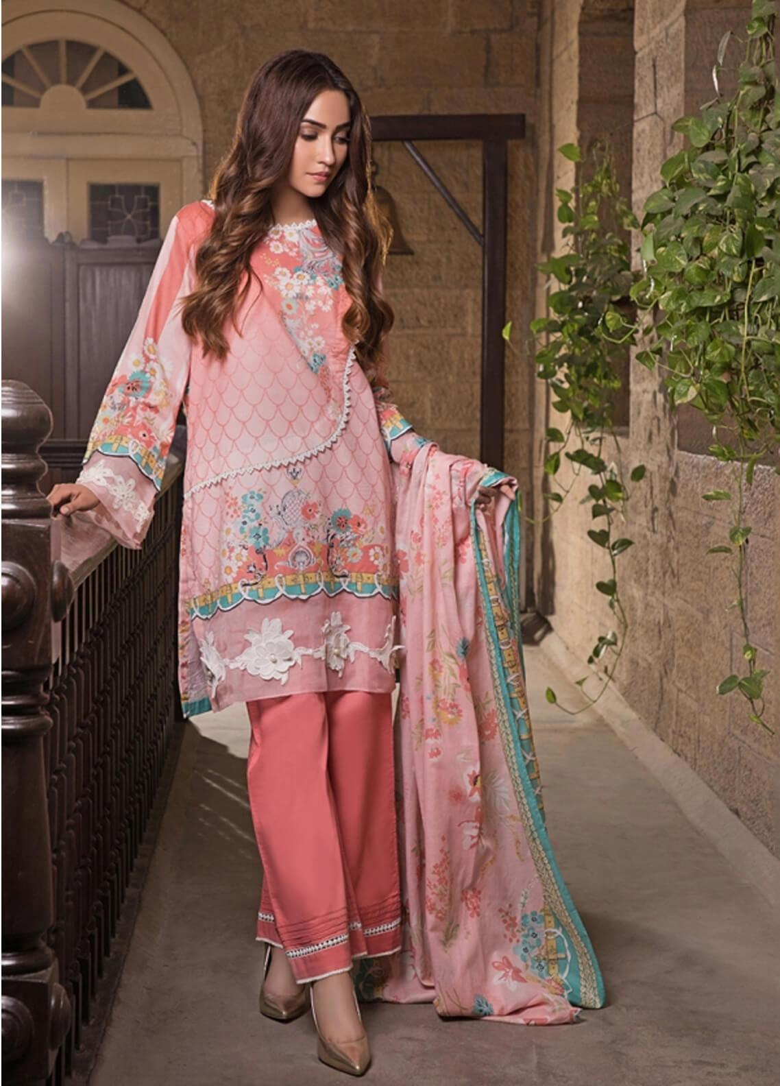 Gul Mohar Printed Lawn Unstitched 3 Piece Suit GM19L 2B - Festive Collection