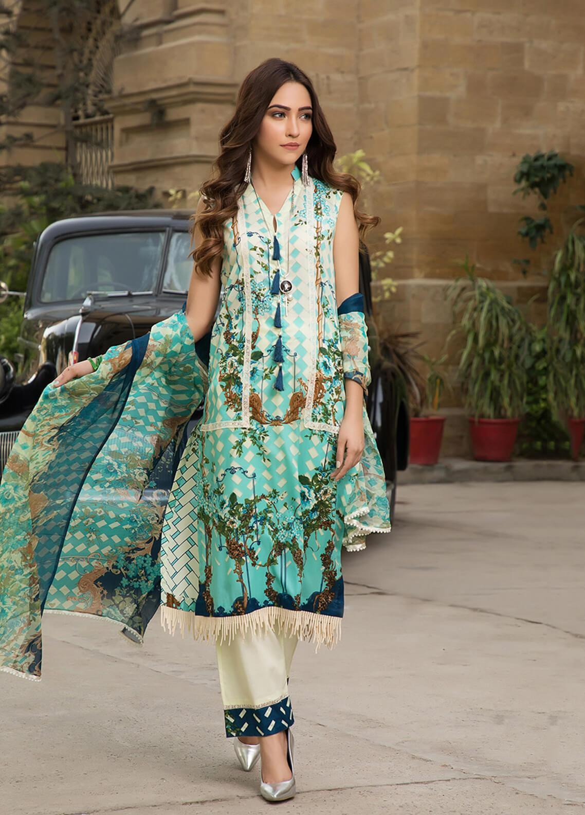 Gul Mohar Printed Lawn Unstitched 3 Piece Suit GM19L 4A - Festive Collection