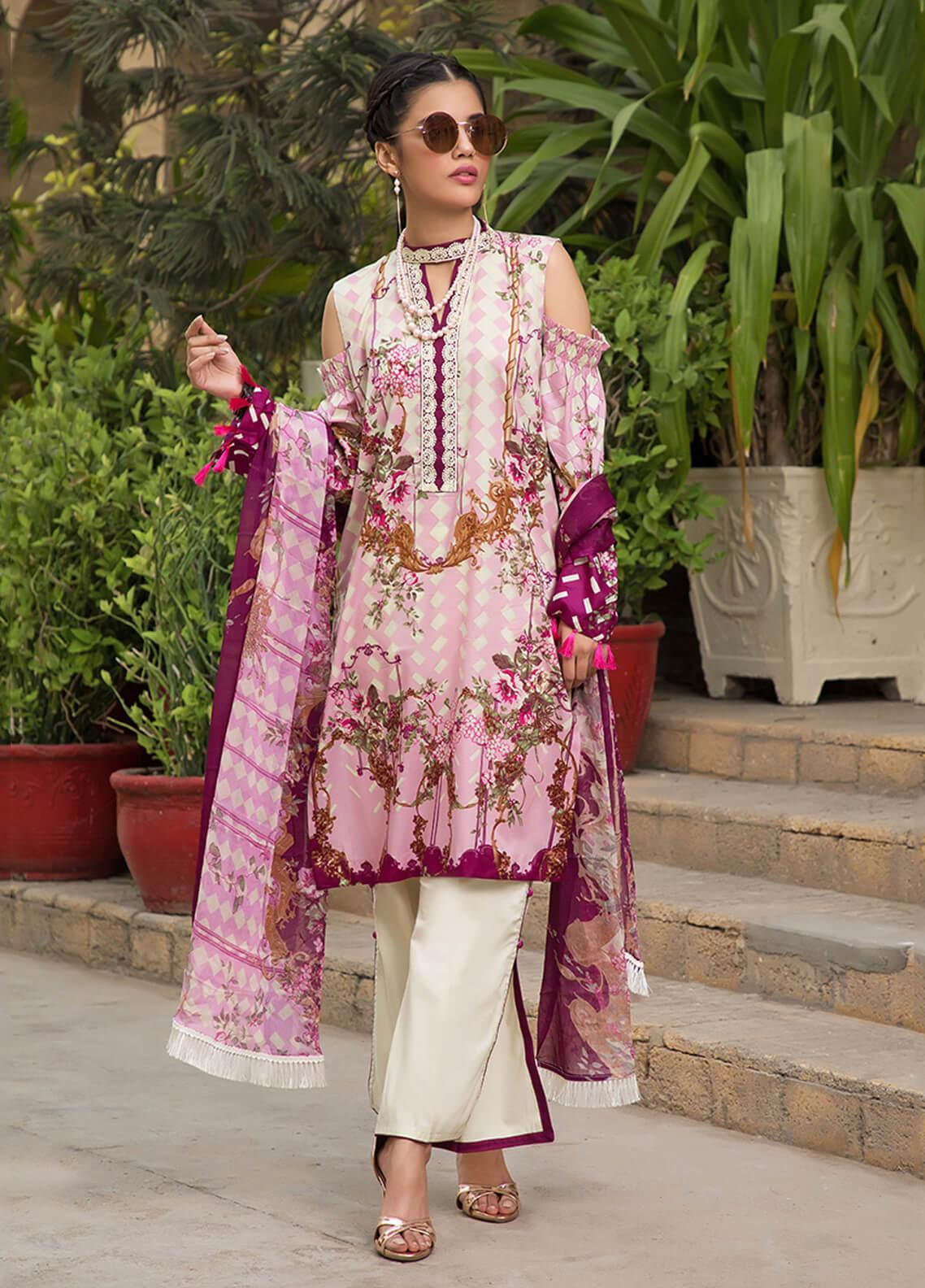 Gul Mohar Printed Lawn Unstitched 3 Piece Suit GM19L 4B - Festive Collection