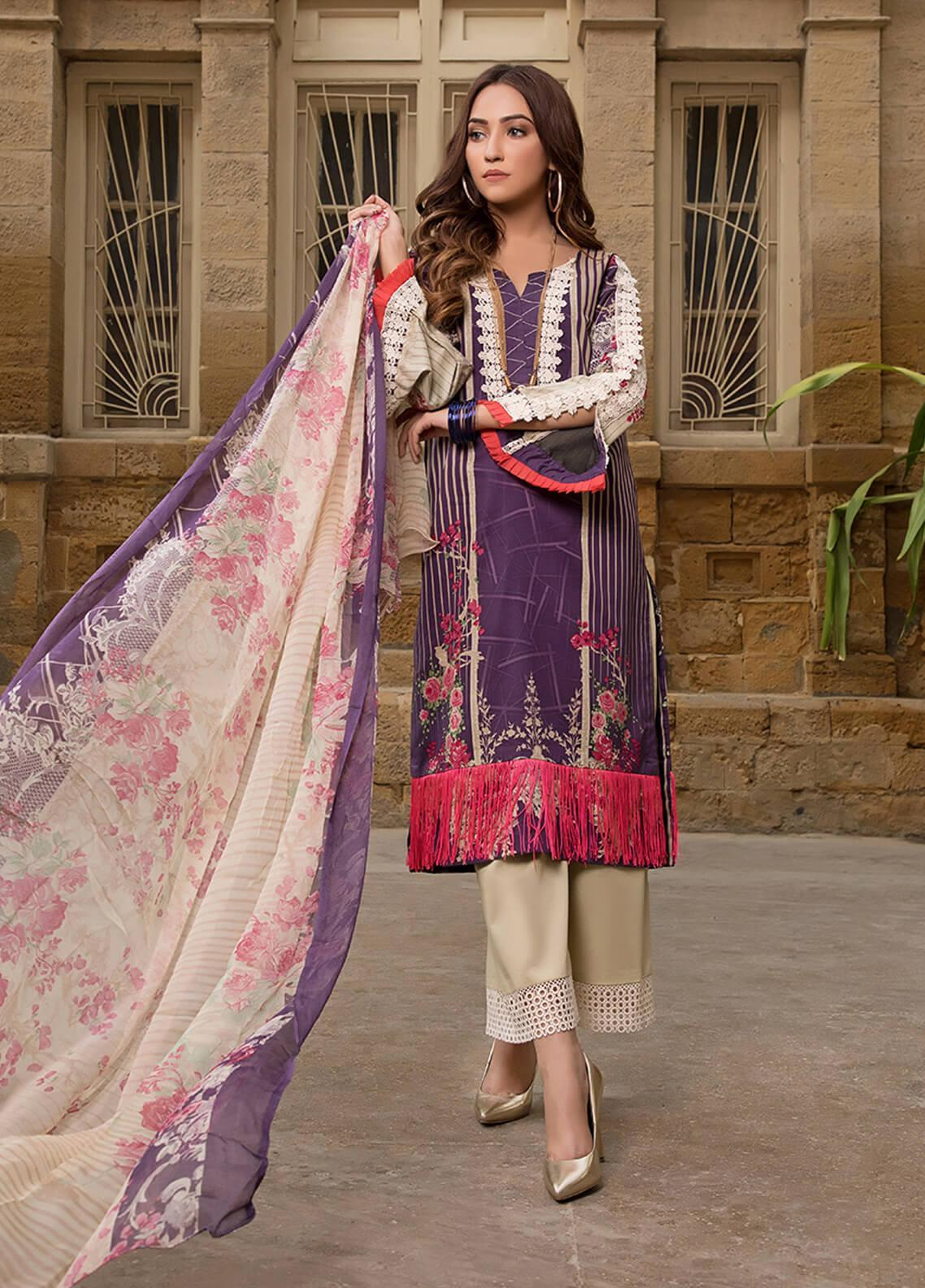 Gul Mohar Printed Lawn Unstitched 3 Piece Suit GM19L 5A - Festive Collection