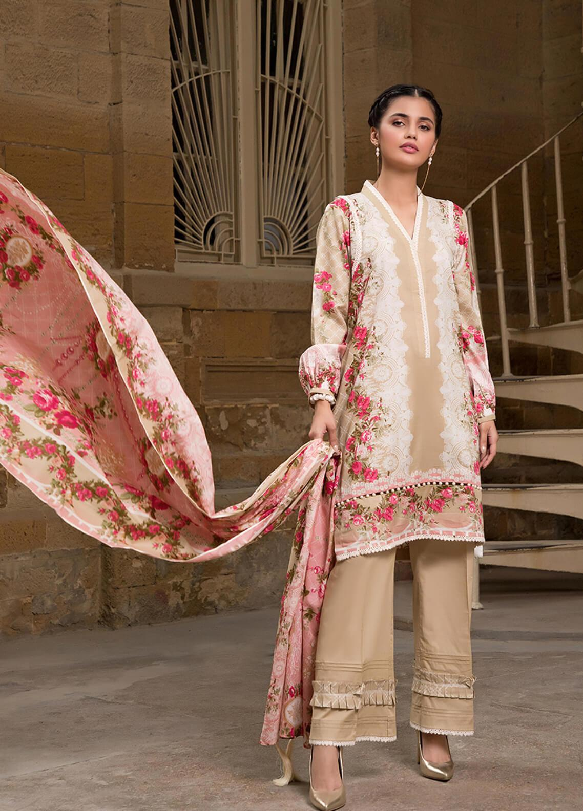 Gul Mohar Printed Lawn Unstitched 3 Piece Suit GM19L 6A - Festive Collection