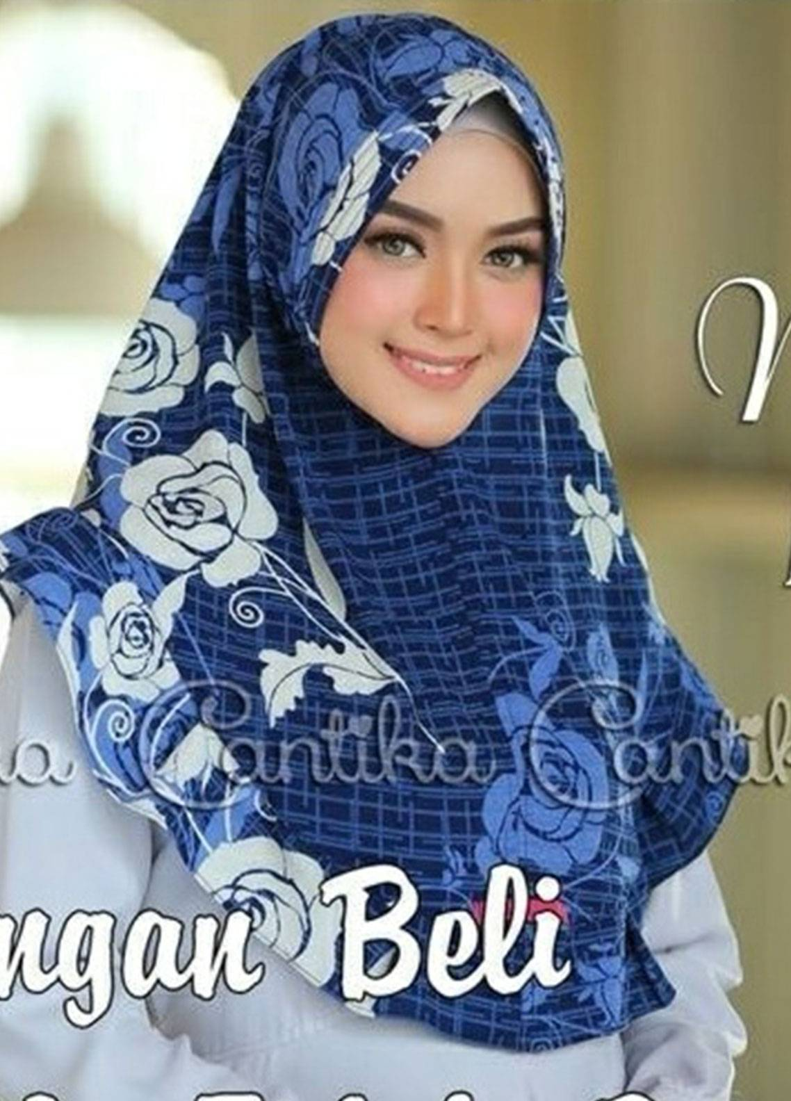 Cantika Bubble Pop Ladies Scarves HH Can 01 Blue