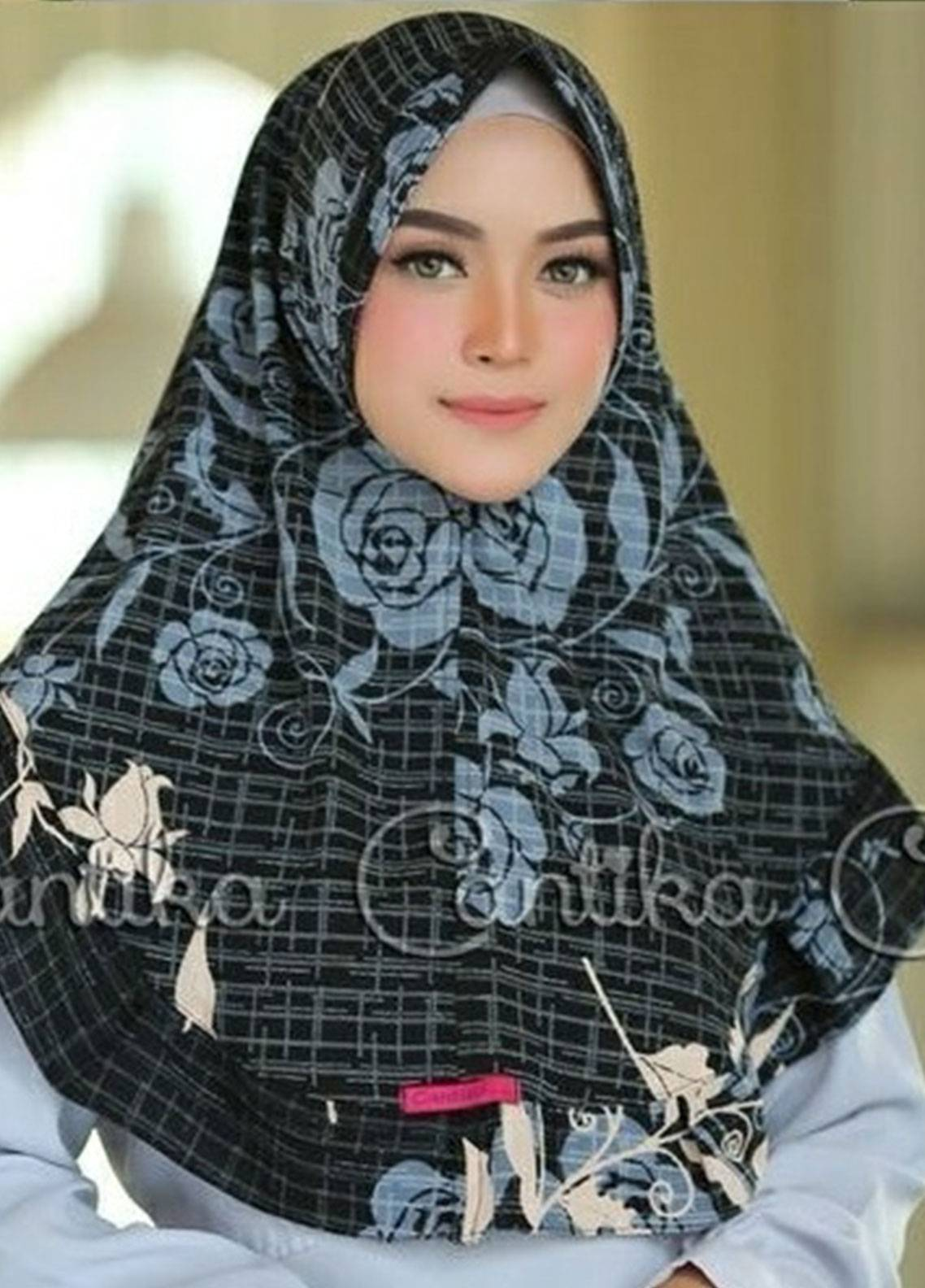 Cantika Bubble Pop Ladies Scarves HH Can 05 Black