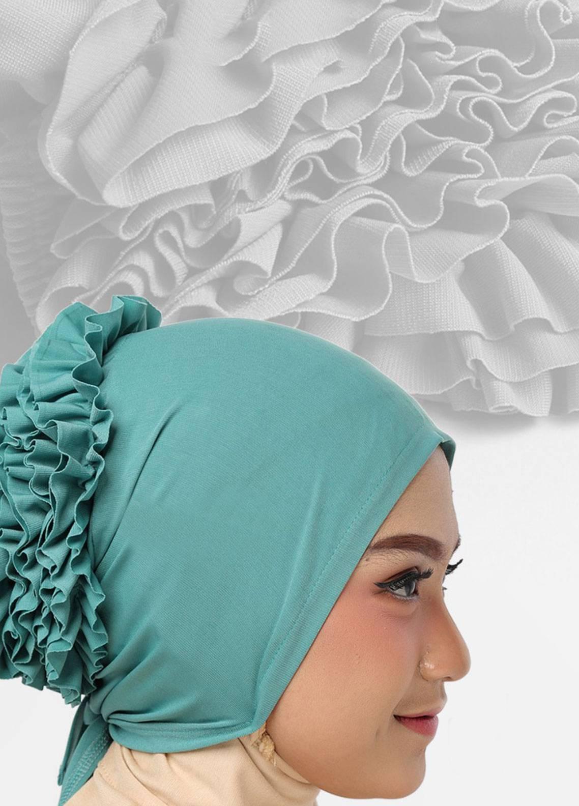 Oneto Hijab  Jersey  Hijab's Inner Cap HH Bunga Inner 04 Mint
