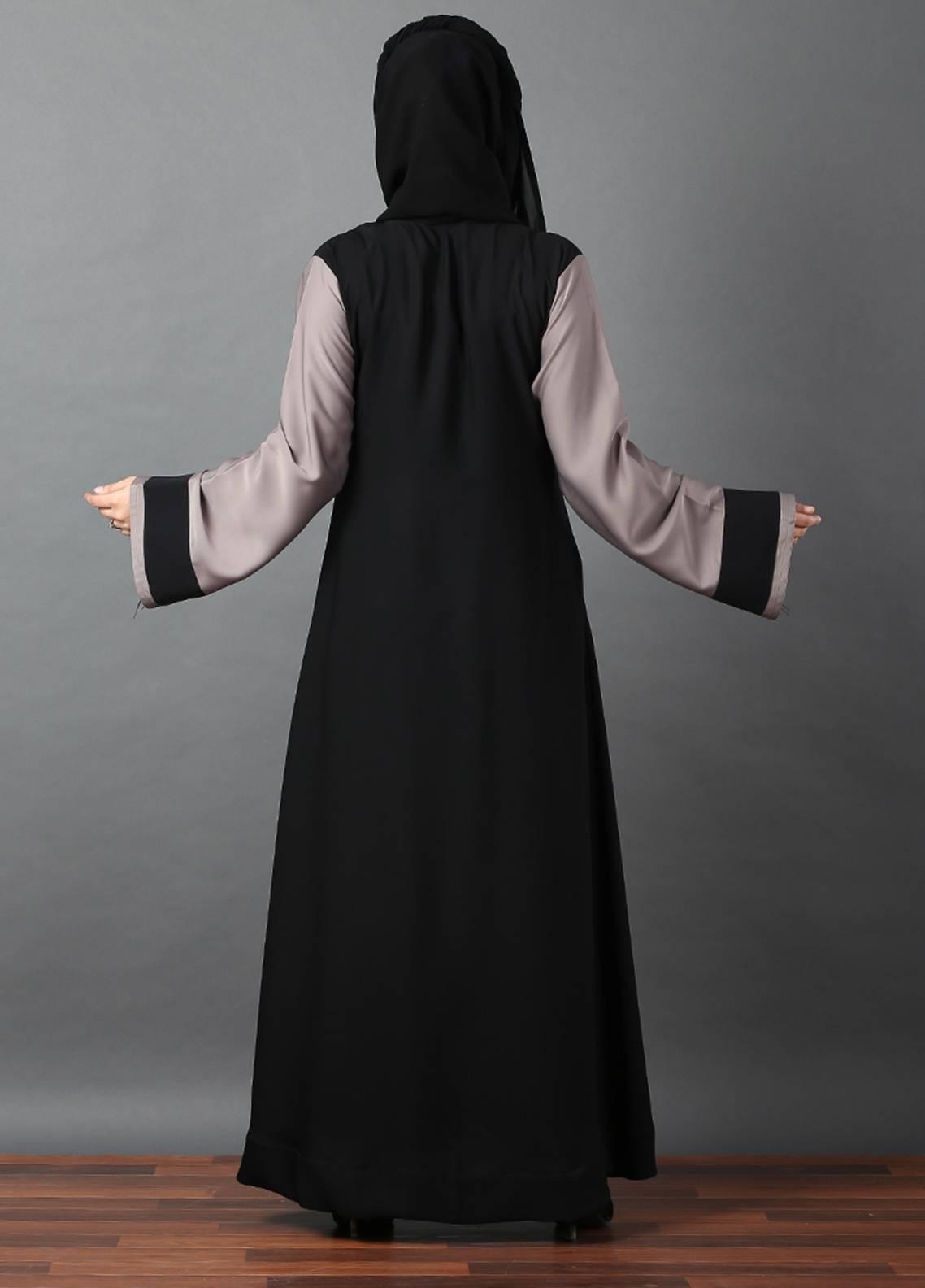 Hijab ul Hareem Front Open Style  Stitched Abaya 0116-R-A370
