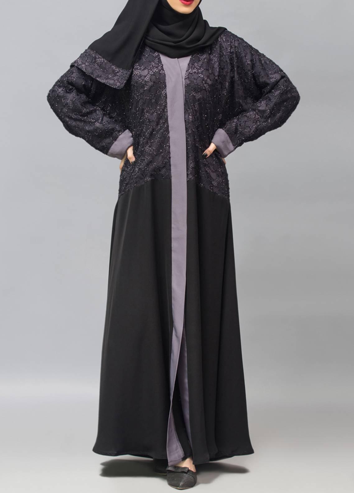 Hijab ul Hareem Front Open Style  Stitched Abaya 0116-R-957