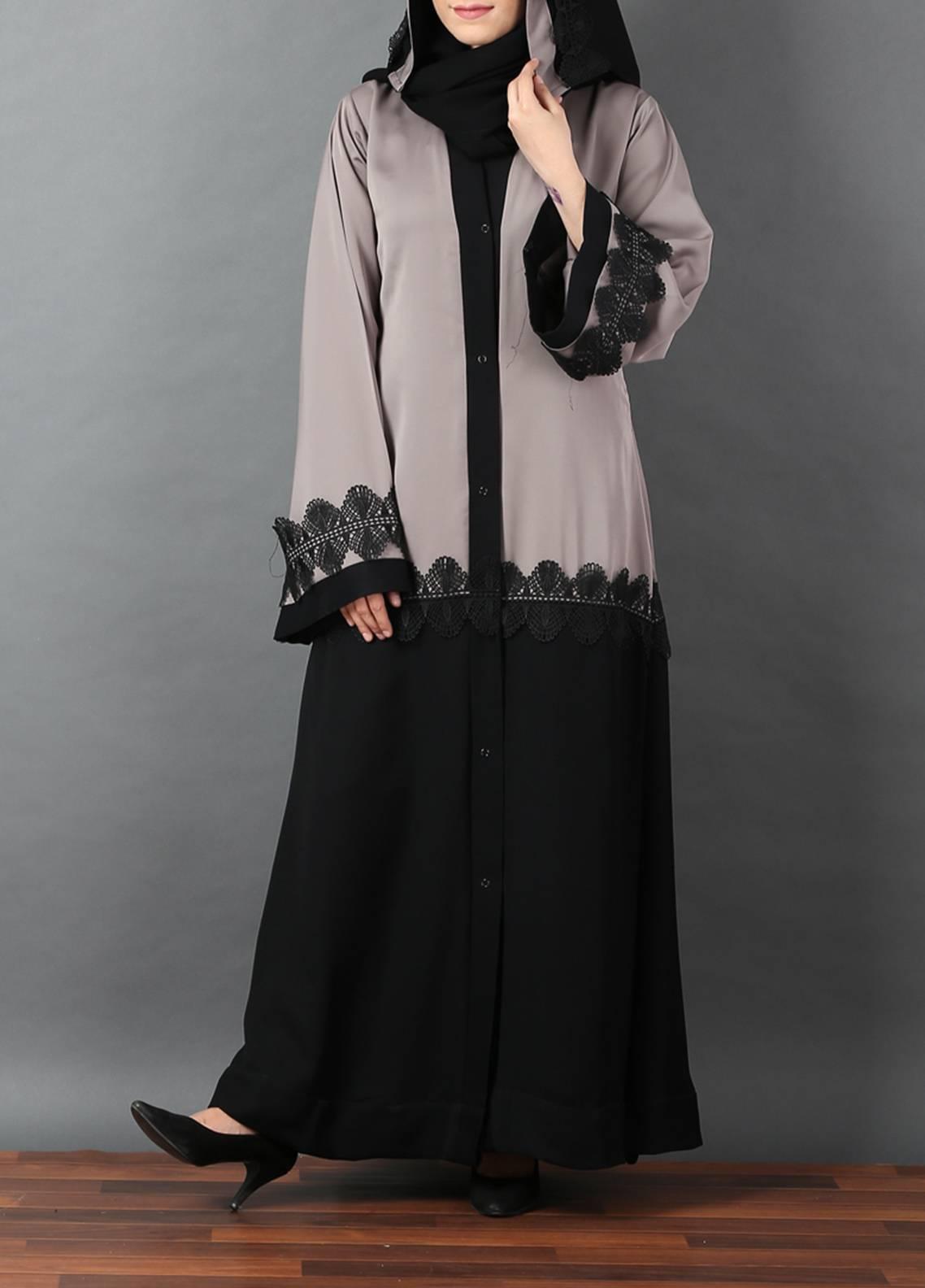Hijab ul Hareem Front Open Style  Stitched Abaya 0116-R-A368
