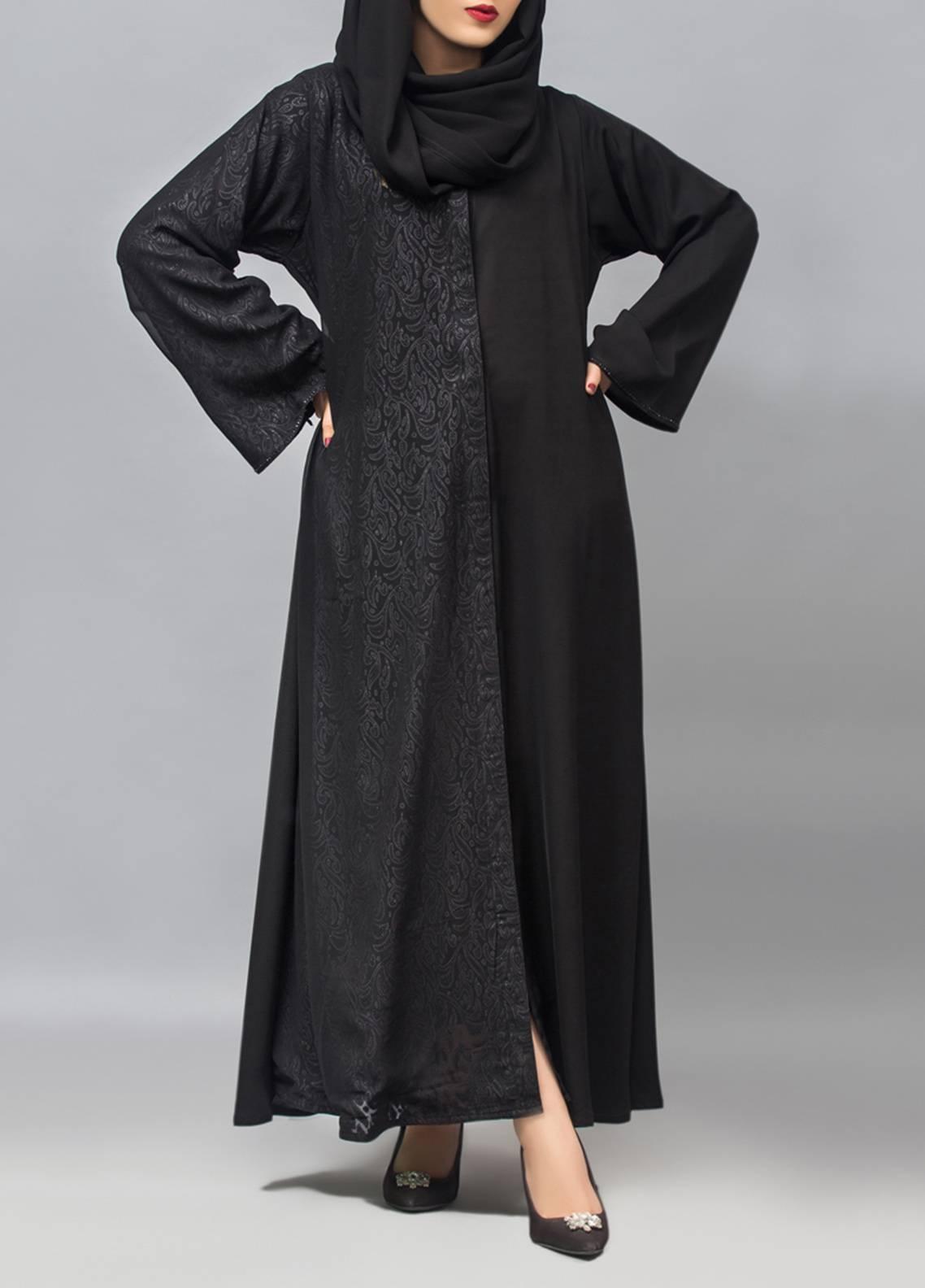 Hijab ul Hareem Front Open Style  Stitched Abaya 0121-RC-959