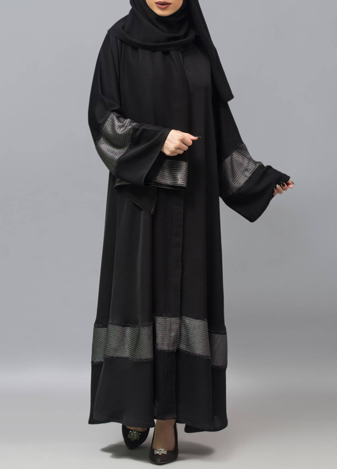 Hijab ul Hareem Front Open Style  Stitched Abaya 0121-RC-960