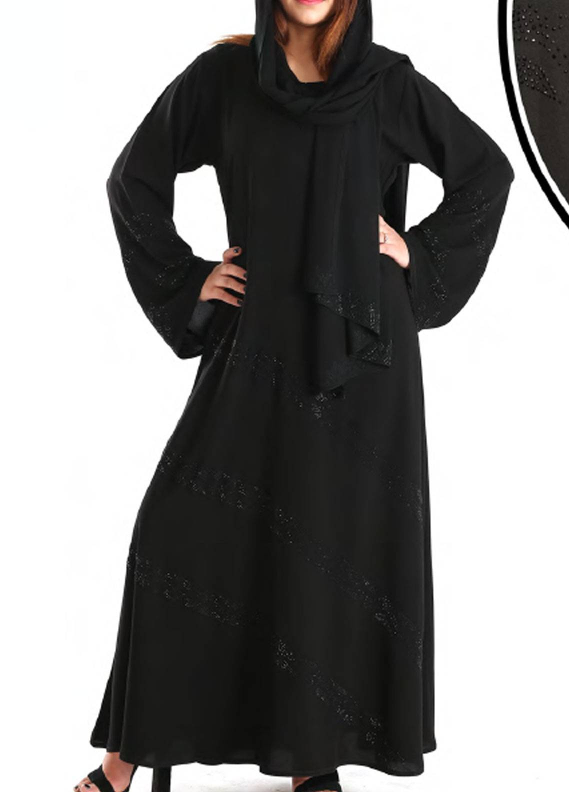 Hijab ul Hareem Pullover  Stitched Abaya 0120-C-911