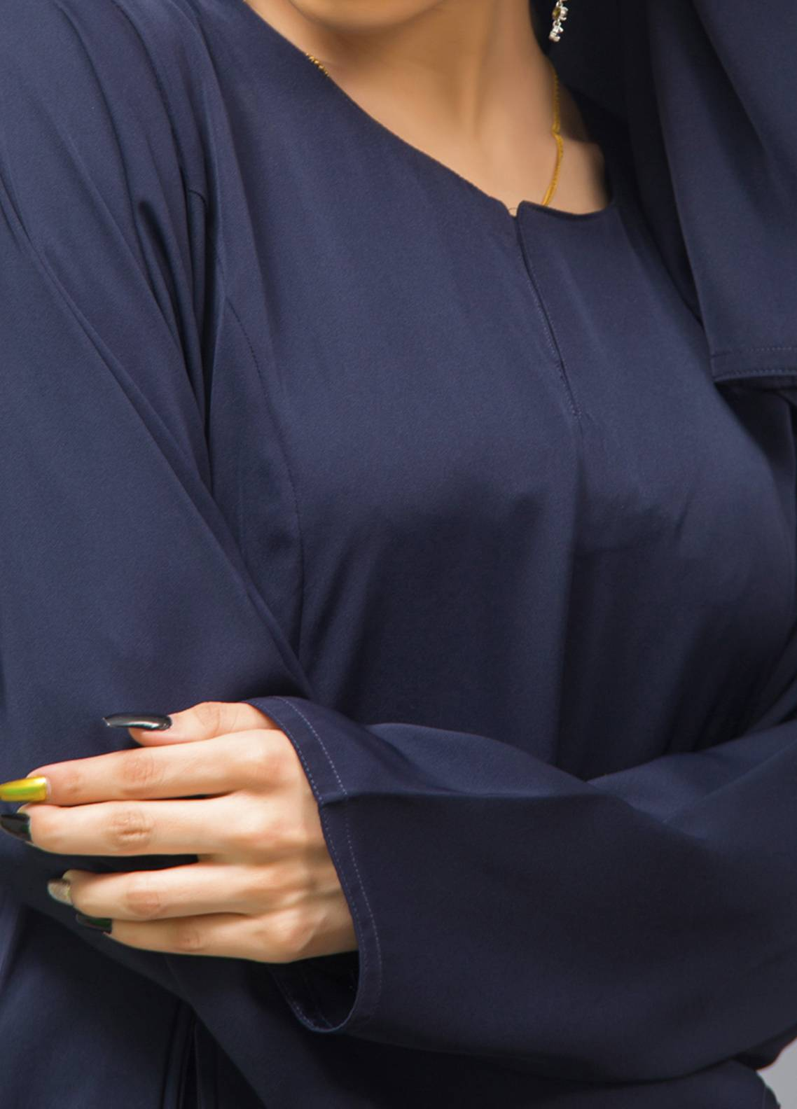 Hijab ul Hareem Pullover  Stitched Abaya 0120-P-955