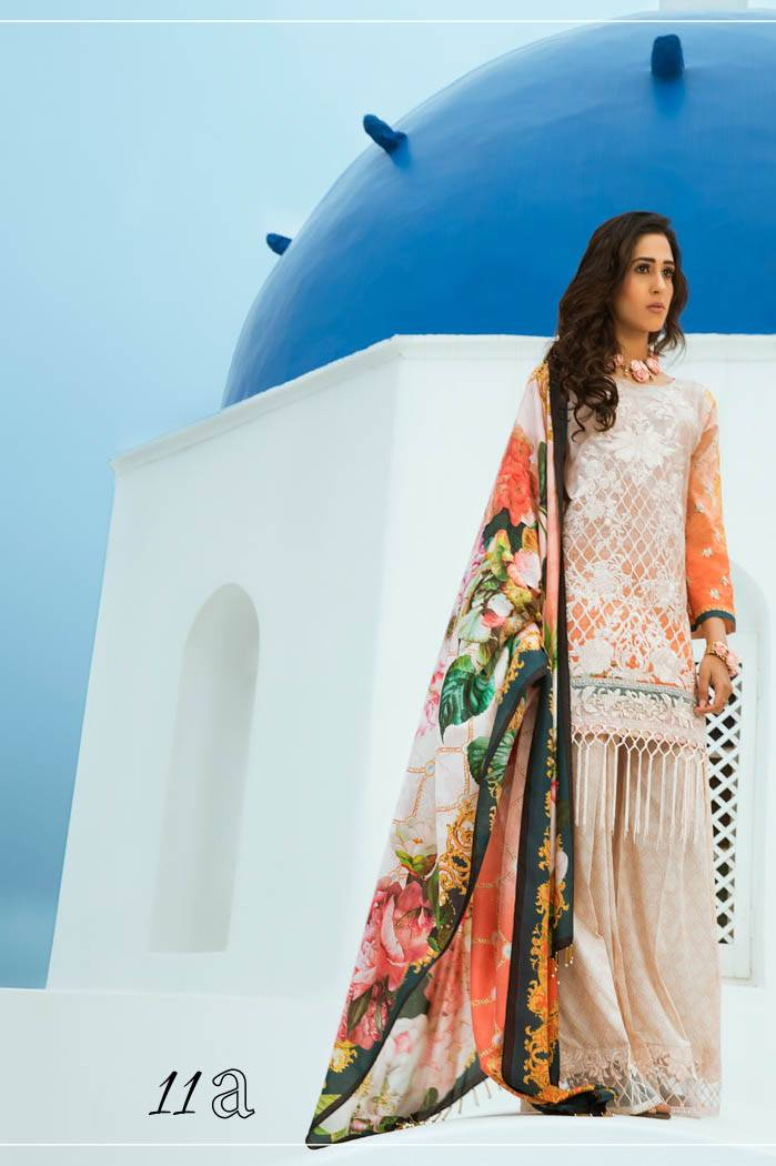 Honey Waqar By ZS Textile Embroidered Lawn Unstitched 3 Piece Suit HW17L 11A