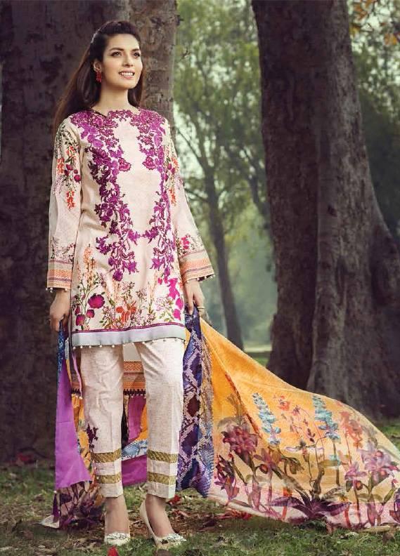 Saffron By Imperial Textile Embroidered Lawn Unstitched 3 Piece Suit IM17S 2A