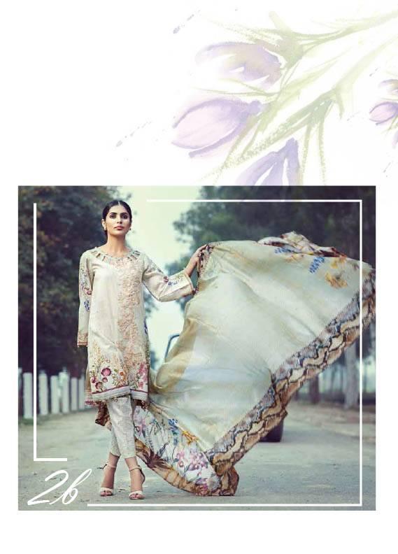 Saffron By Imperial Textile Embroidered Lawn Unstitched 3 Piece Suit IM17S 2B