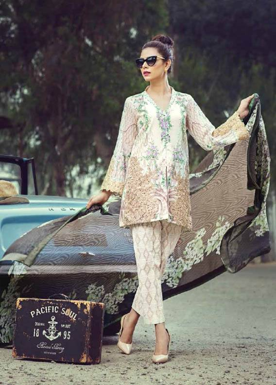 Saffron By Imperial Textile Embroidered Lawn Unstitched 3 Piece Suit IM17S 4B