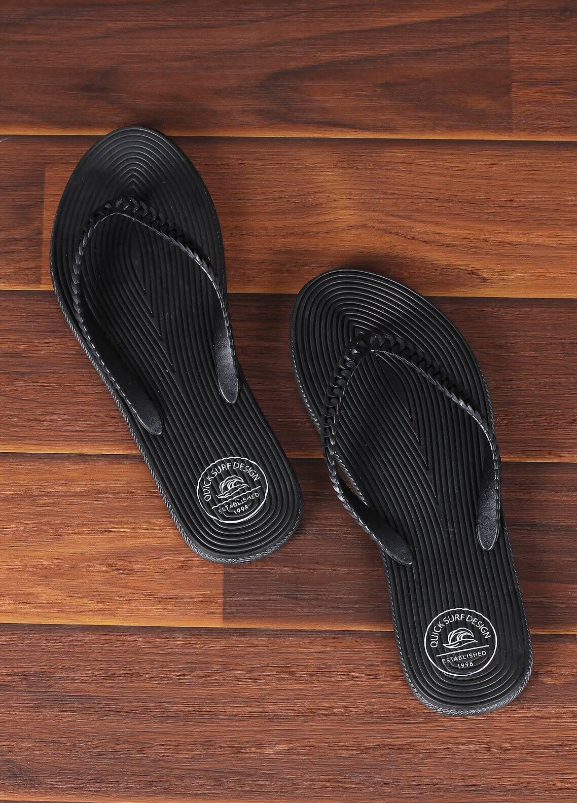 4139d274b6d1 Rubber Ladies Flip Flops 2820 Black