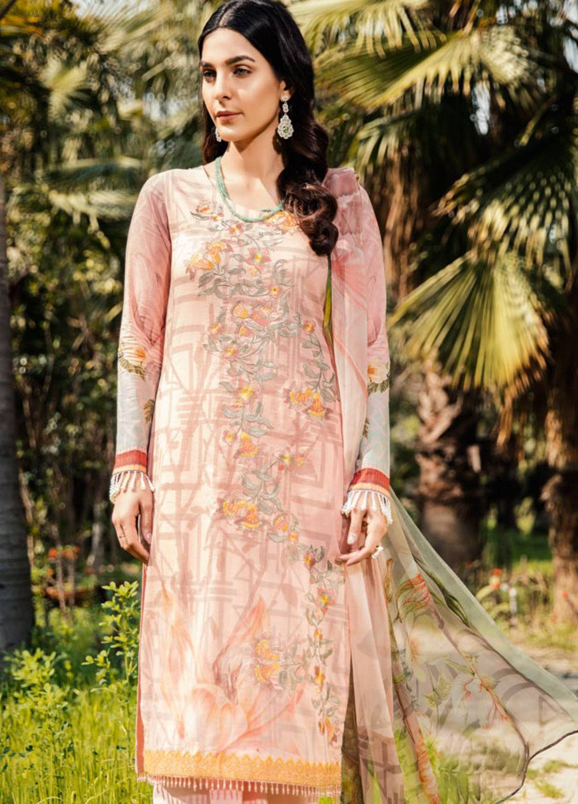 Iznik Embroidered Lawn Unstitched 3 Piece Suit IZC19L 07 PUFFY PINK - Spring / Summer Collection