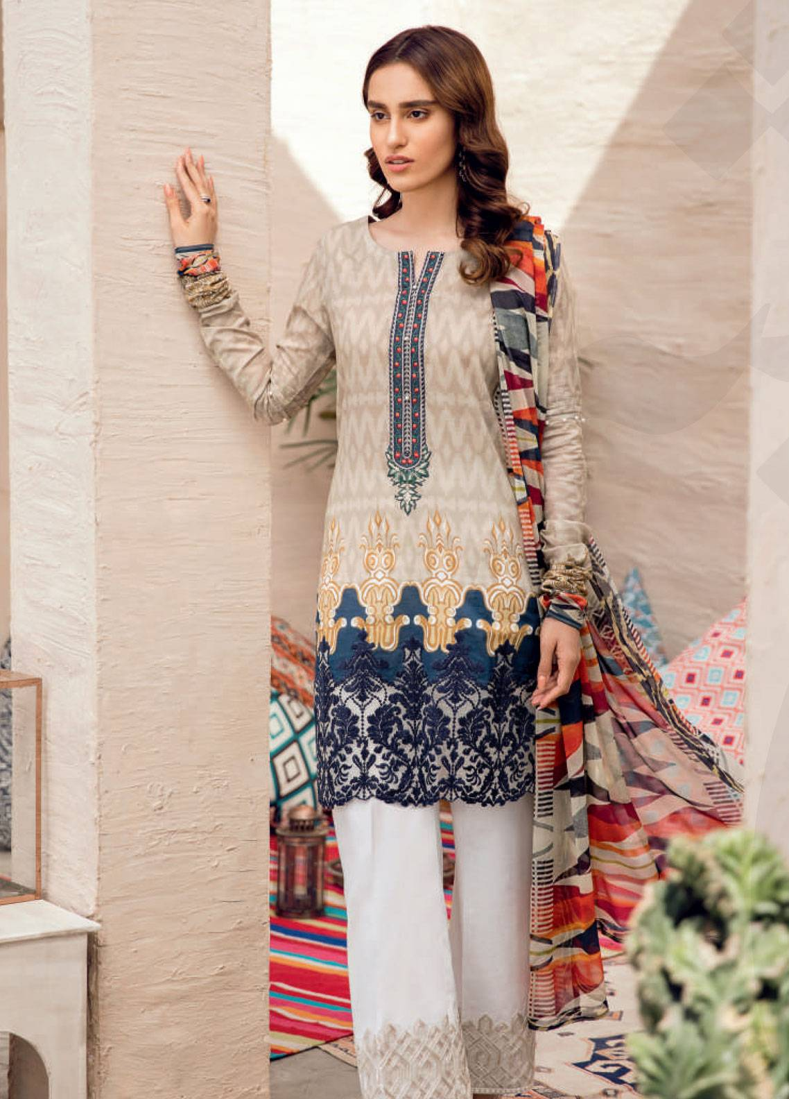 Iznik Chinon Embroidered Lawn Unstitched 3 Piece Suit IZC19-L2 12 - Spring / Summer Collection