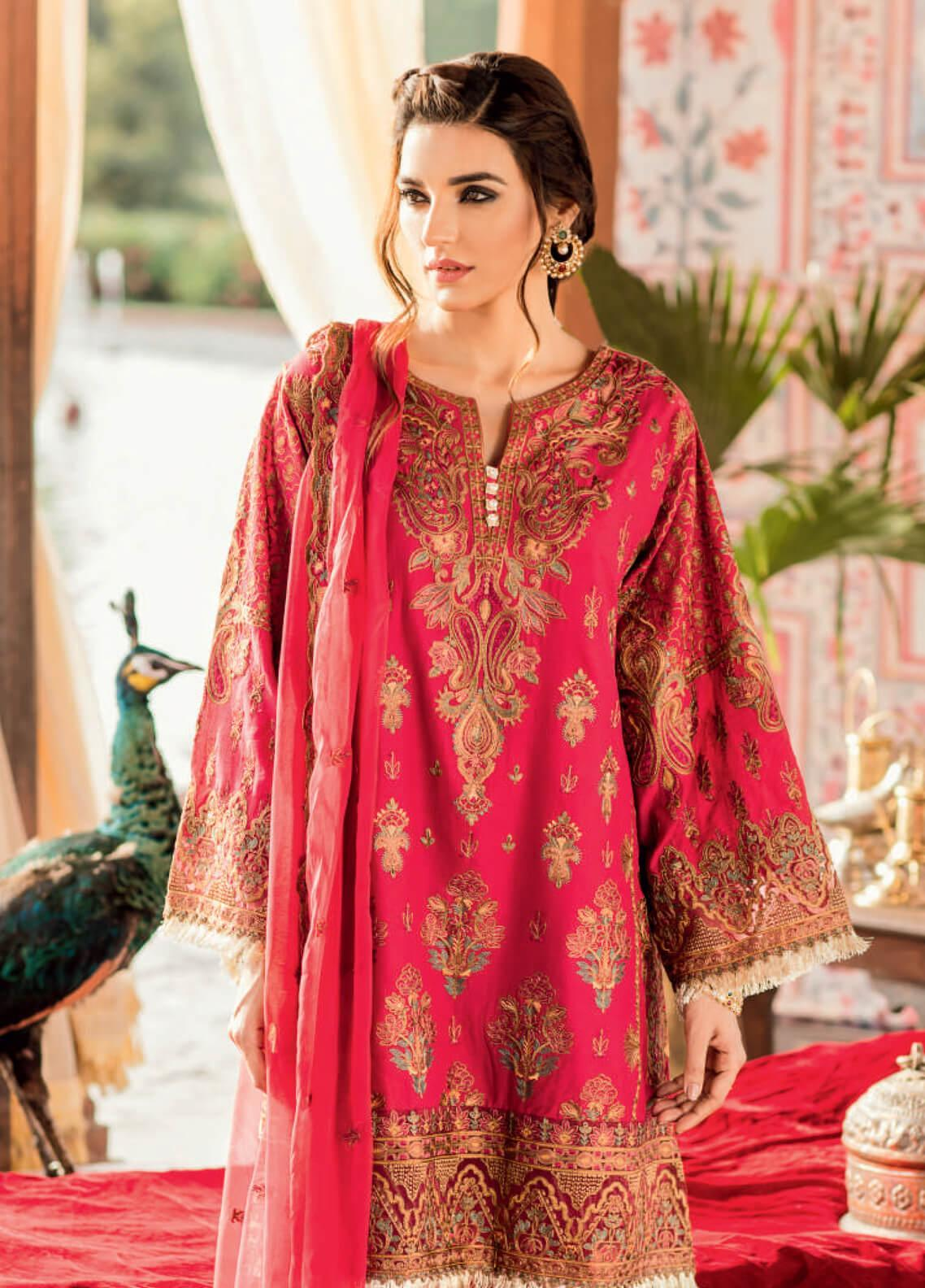 Iznik Embroidered Lawn Unstitched 3 Piece Suit IZ19F 02 YAQOOT - Festive Collection