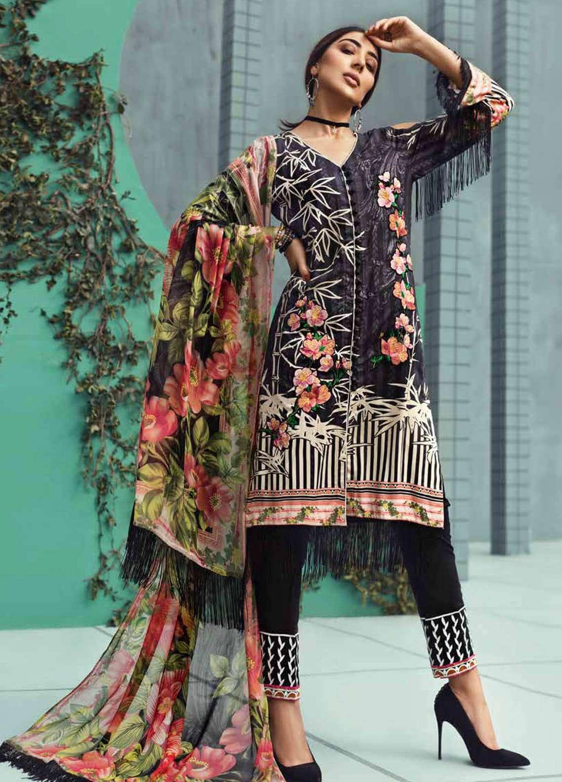 Jahanara Embroidered Linen Unstitched 3 Piece Suit JNW18L 07 - Luxury Collection