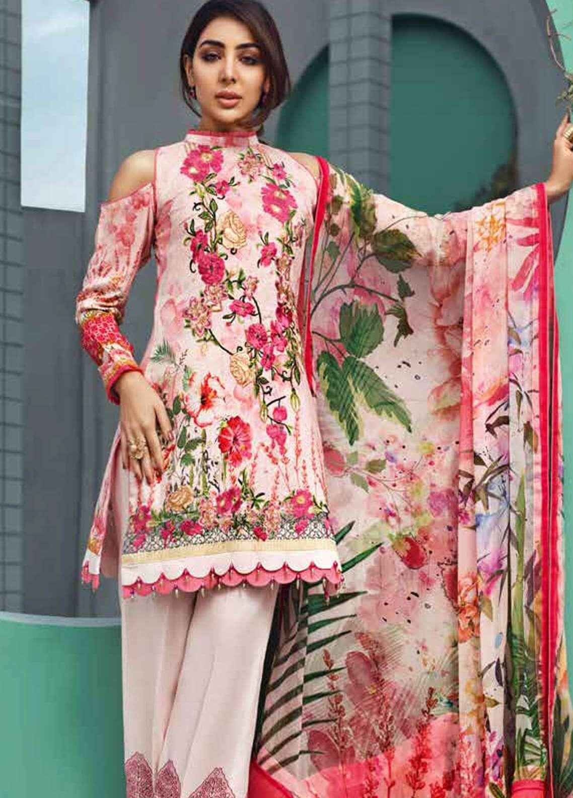 Jahanara Embroidered Linen Unstitched 3 Piece Suit JNW18L 10 - Luxury Collection