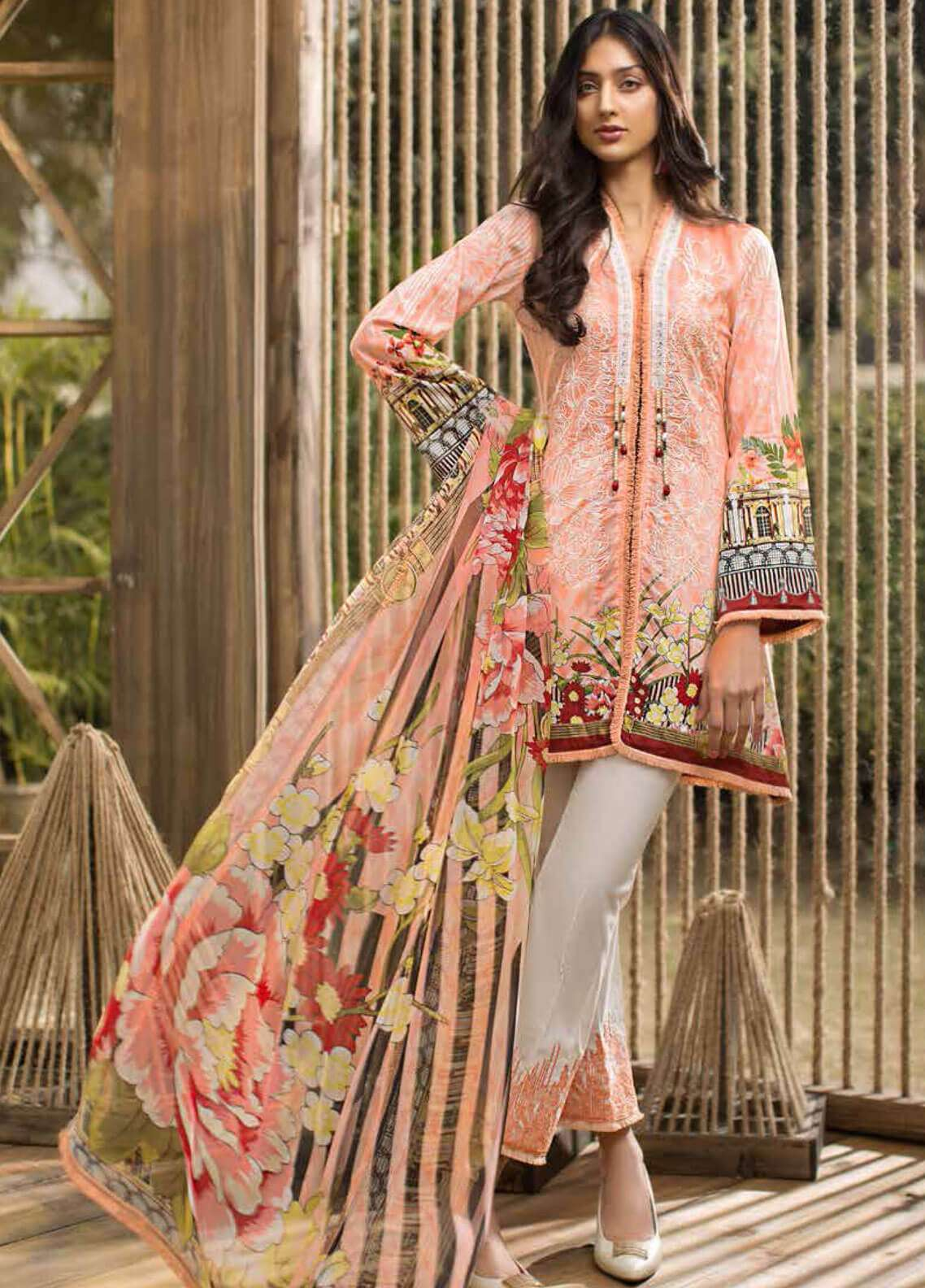 Jahanara Embroidered Lawn Unstitched 3 Piece Suit JN19L 01 - Spring / Summer Collection