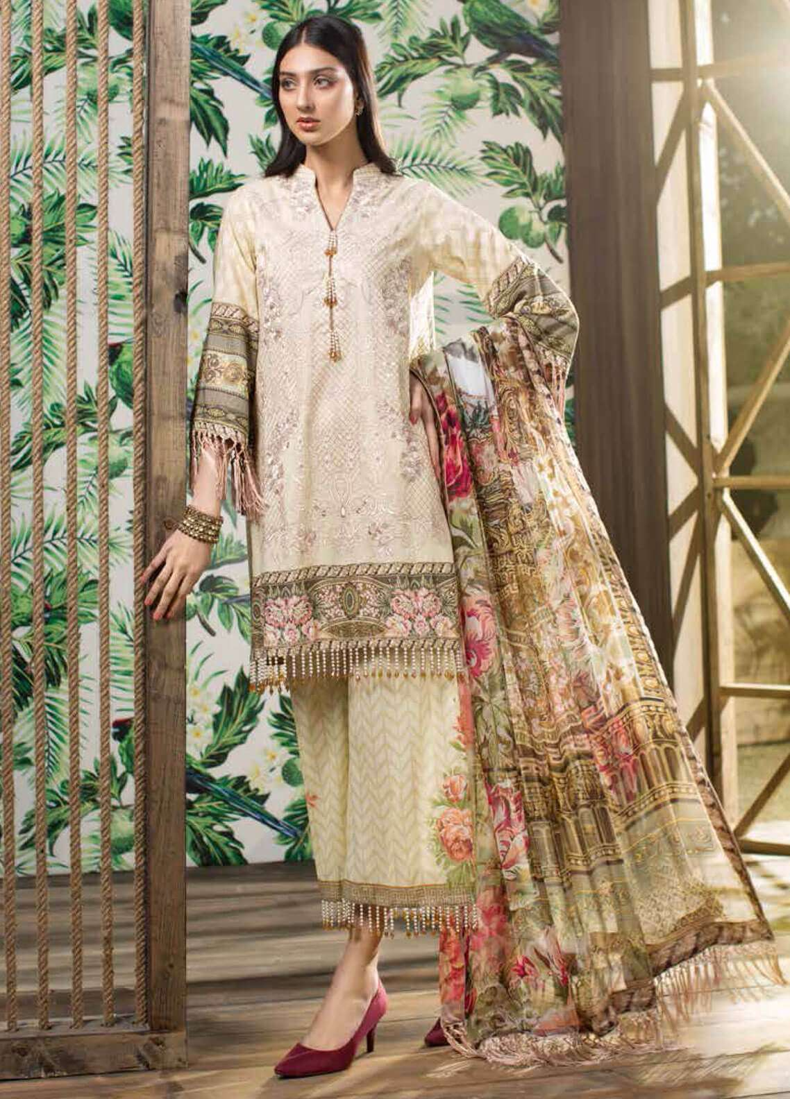 Jahanara Embroidered Lawn Unstitched 3 Piece Suit JN19L 06 - Spring / Summer Collection