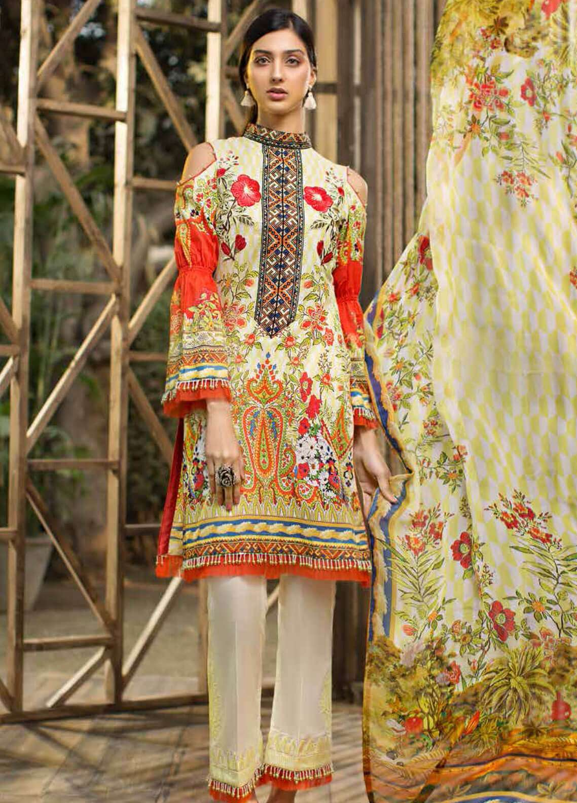 Jahanara Embroidered Lawn Unstitched 3 Piece Suit JN19L 09 - Spring / Summer Collection