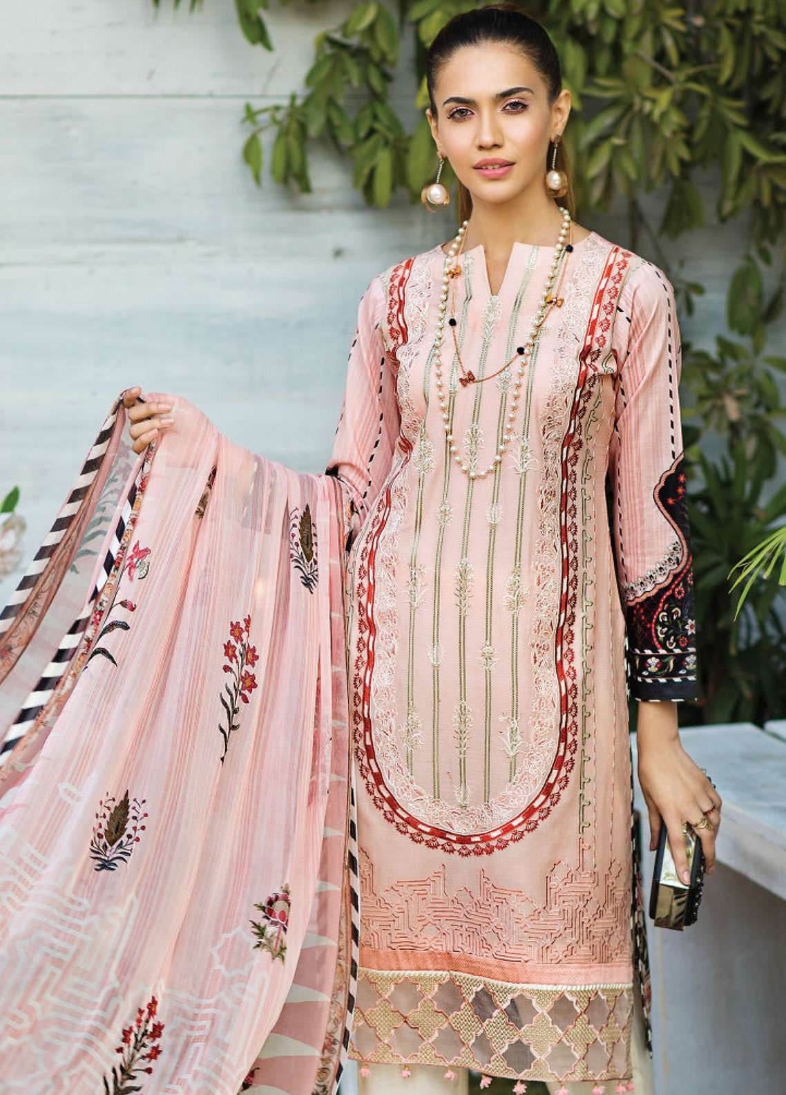 Janiya by Resham Ghar Embroidered Lawn Unstitched 3 Piece Suit JRG19L 02 - Spring / Summer Collection