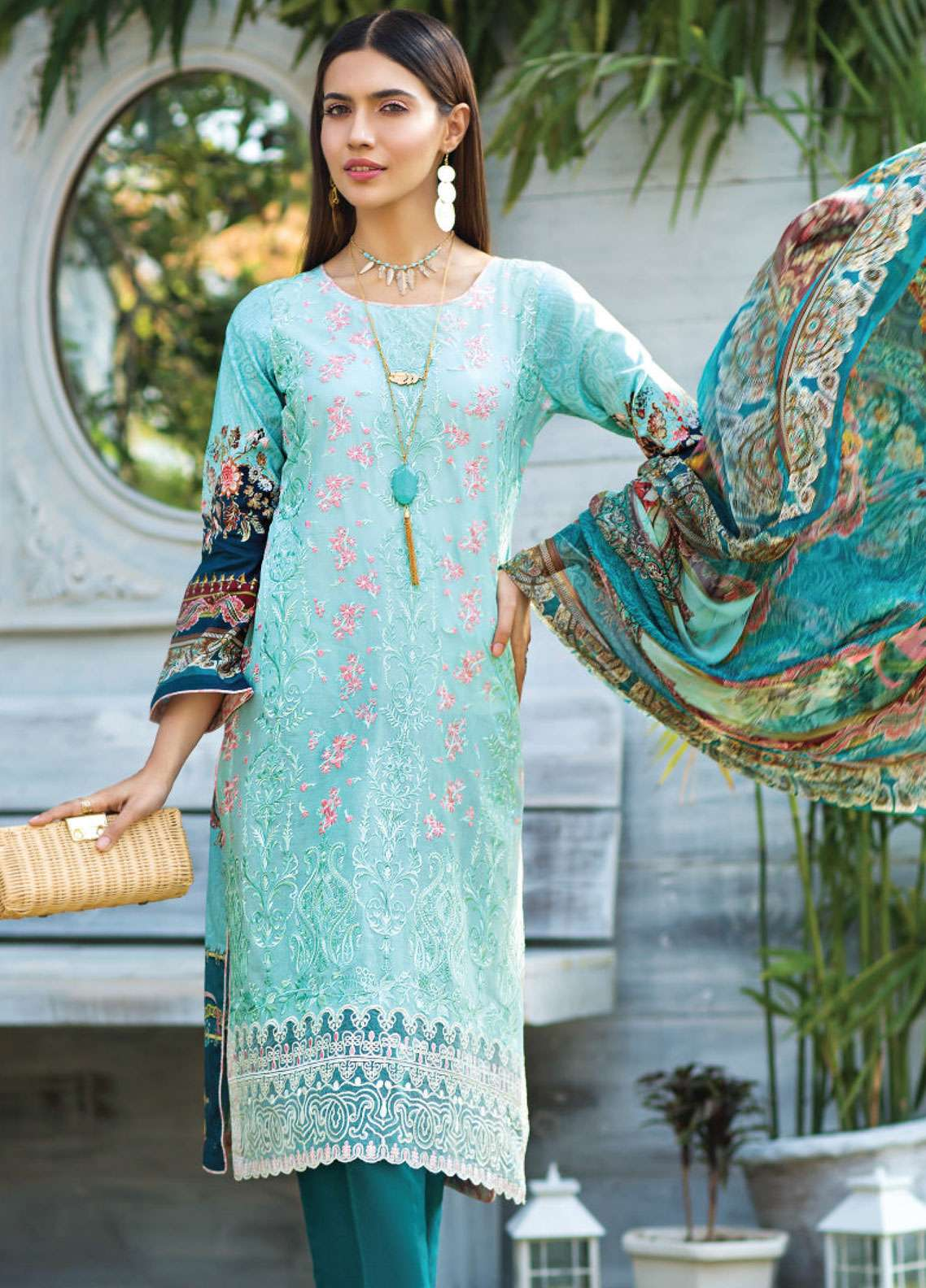 Janiya by Resham Ghar Embroidered Lawn Unstitched 3 Piece Suit JRG19L 08 - Spring / Summer Collection