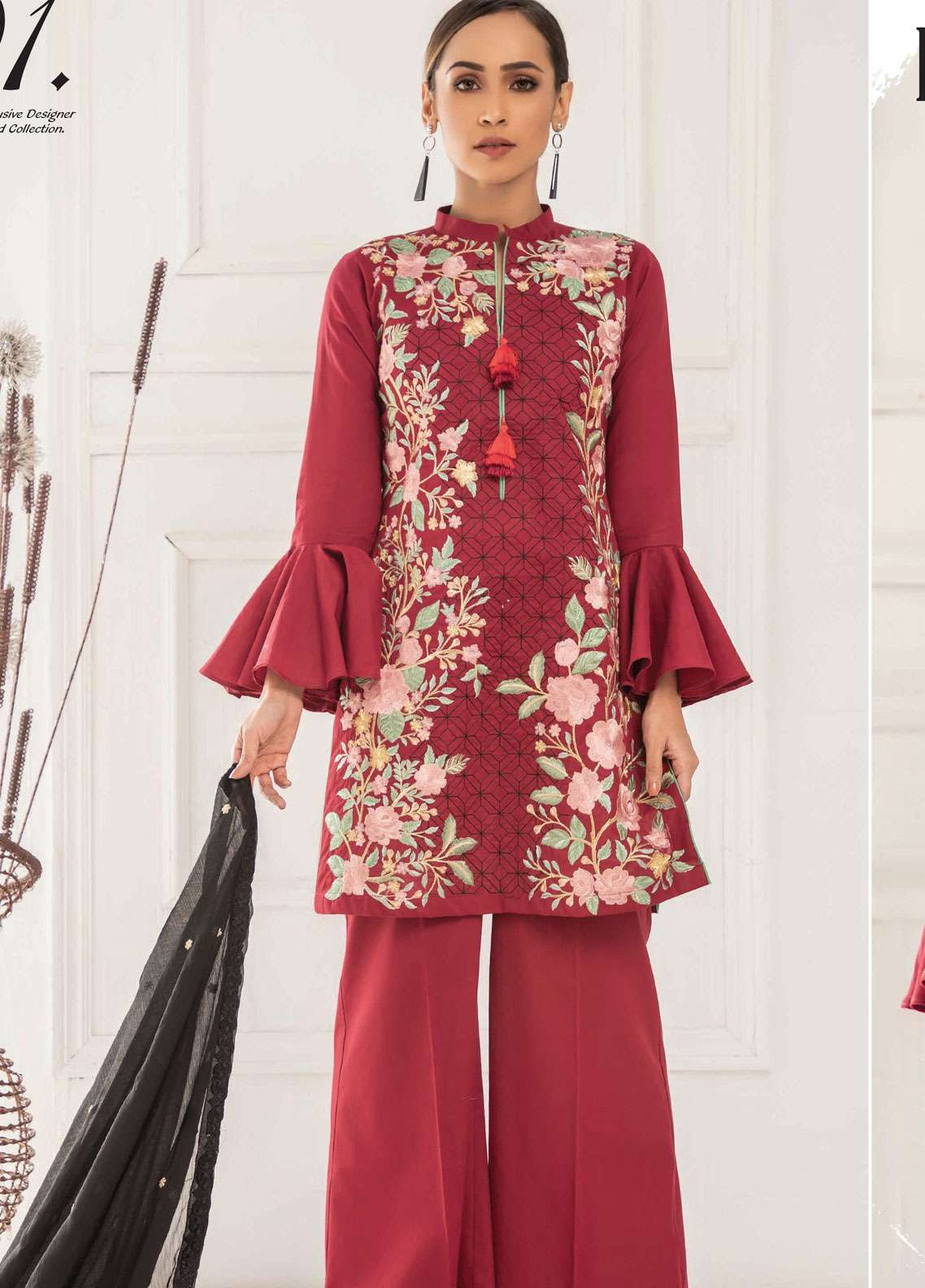Kalyan By ZS Embroidered Lawn Unstitched 3 Piece Suit KED19EC 01 - Exclusive Collection