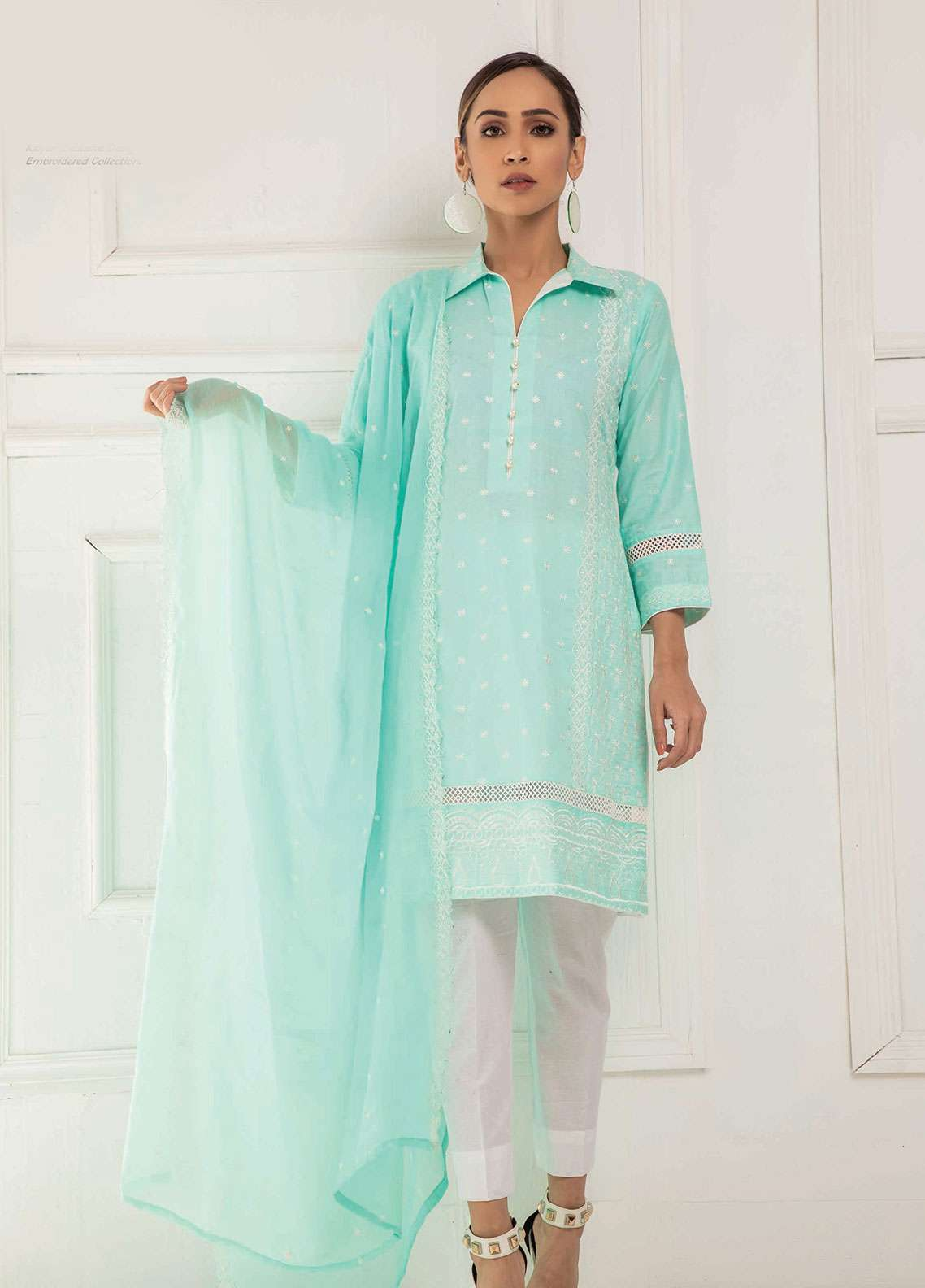 Kalyan By ZS Embroidered Lawn Unstitched 3 Piece Suit KED19EC 06A - Exclusive Collection