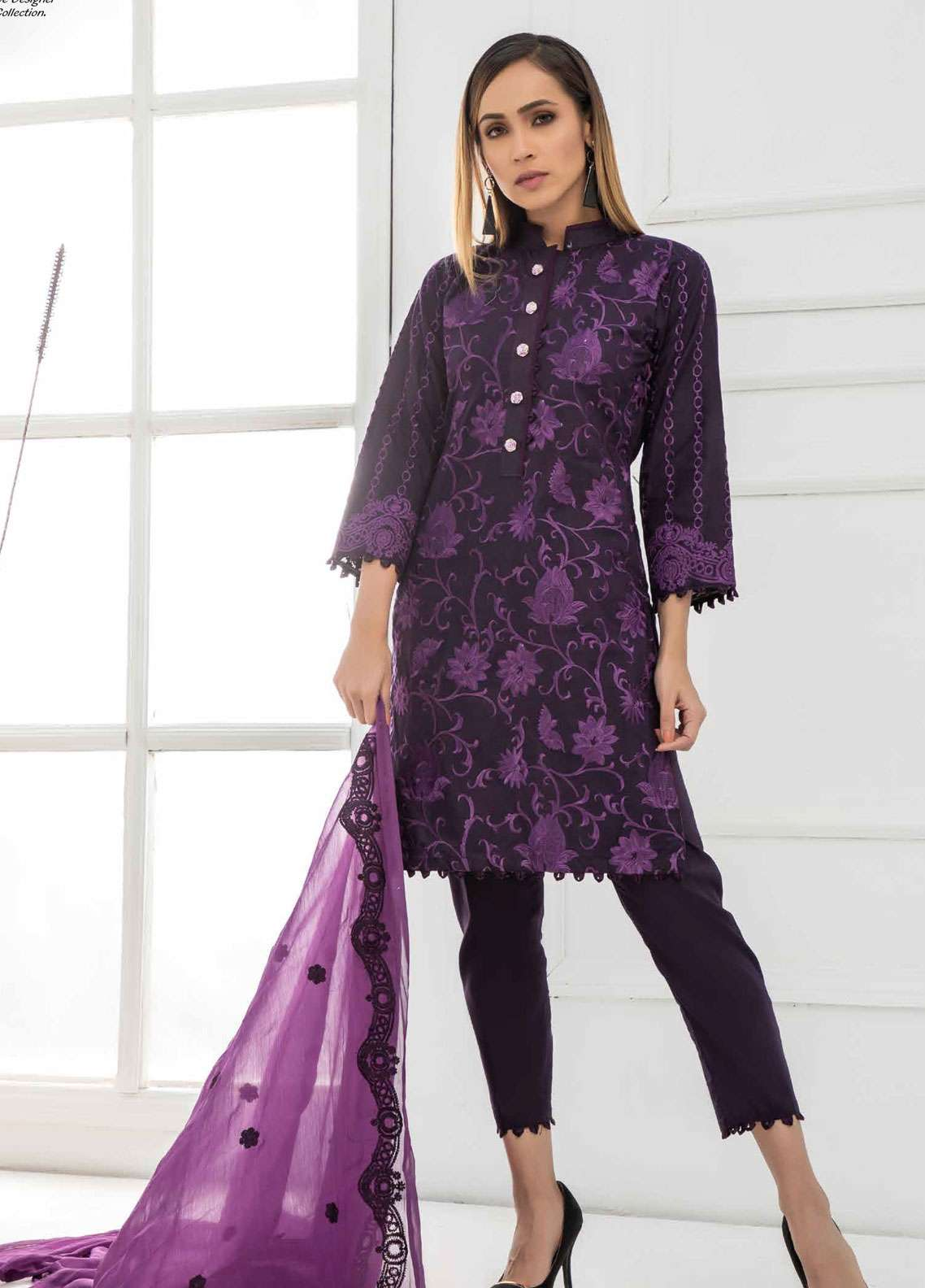 Kalyan By ZS Embroidered Lawn Unstitched 3 Piece Suit KED19EC 09 - Exclusive Collection