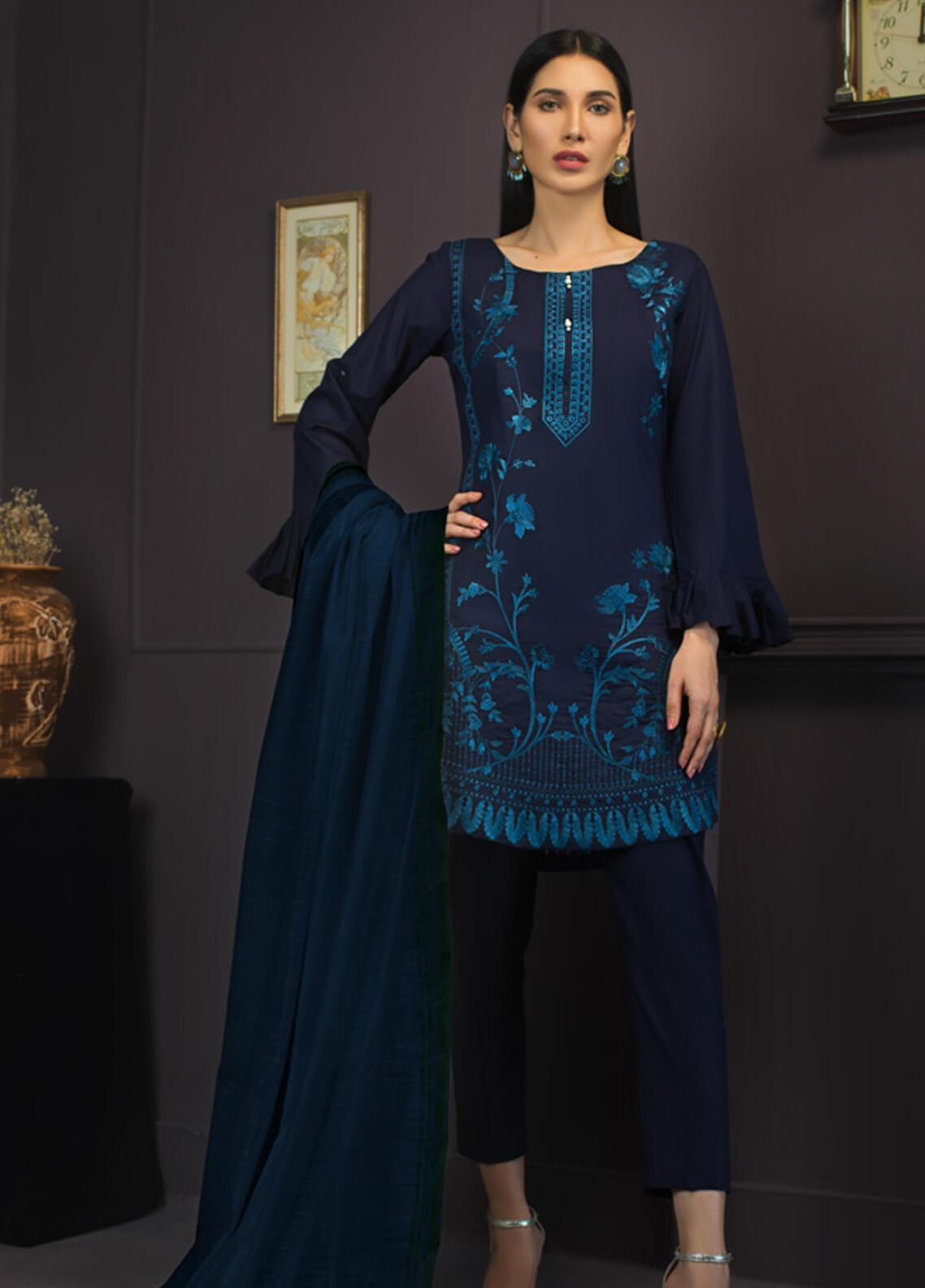 Kalyan By ZS Embroidered Lawn Unstitched 3 Piece Suit KLY19-F2 01 - Festive Collection
