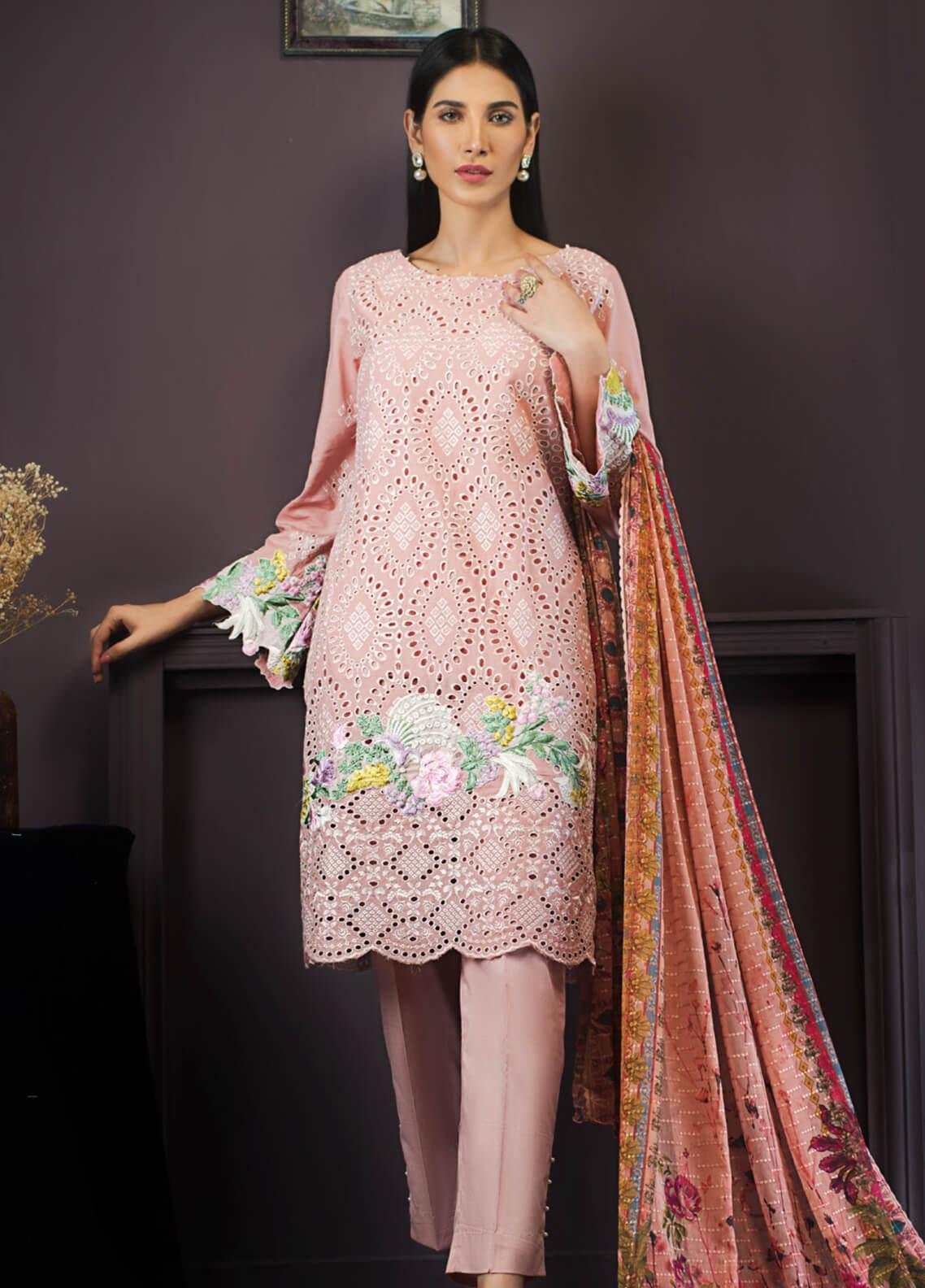 Kalyan By ZS Embroidered Lawn Unstitched 3 Piece Suit KLY19-F2 02 - Festive Collection