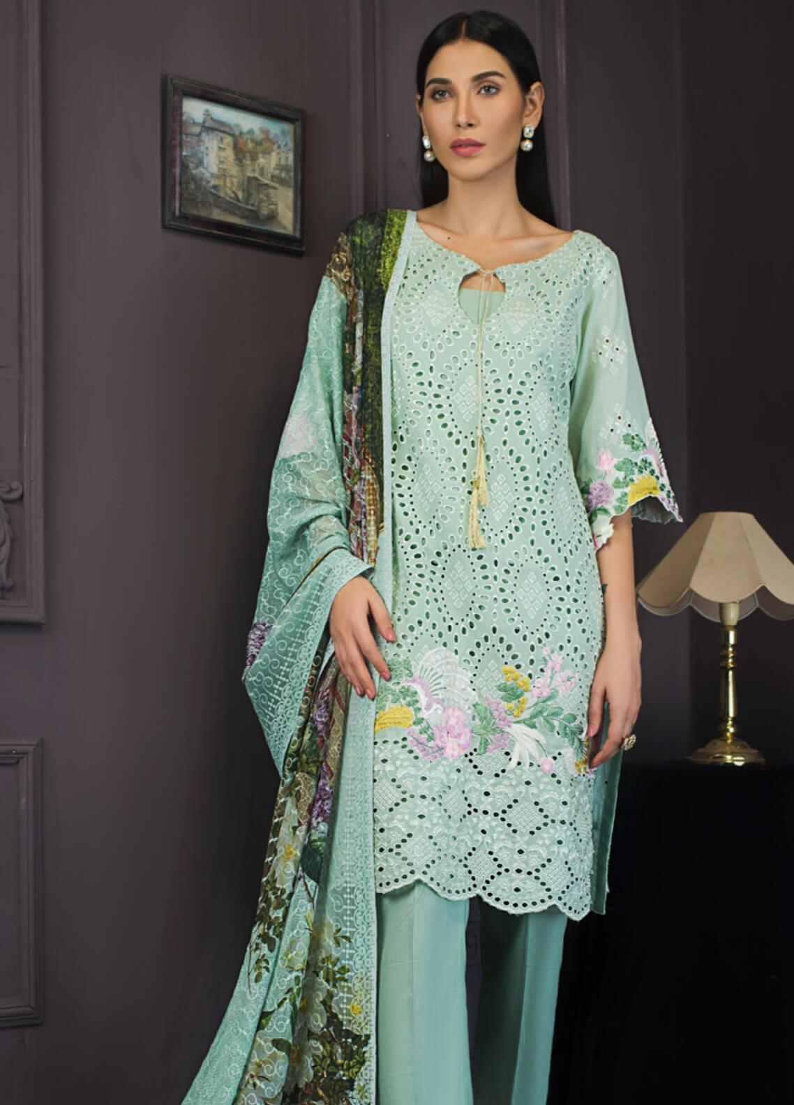 Kalyan By ZS Embroidered Lawn Unstitched 3 Piece Suit KLY19-F2 04 - Festive Collection