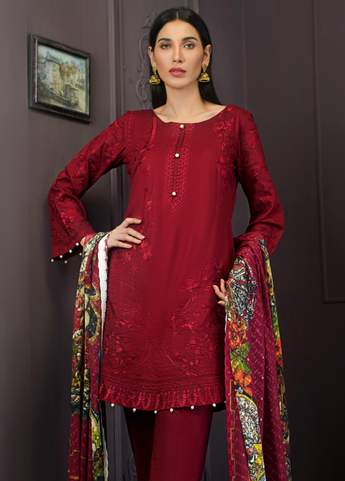 Kalyan By ZS Embroidered Lawn Unstitched 3 Piece Suit KLY19-F2 05 - Festive Collection